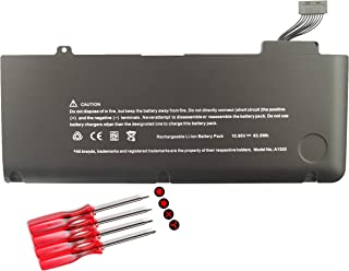 Laptop Battery for A1322 A1278,Apple MacBook Pro 13 inch(2012 2011 2010 2009) MB990LL/A MD313LL/A MB991LL/A MC374LL/A MC375LL/A MD101LL/A MD102LL/A MC700LL/A MD314LL/A MC724LL/A