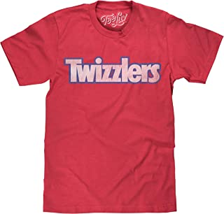 Tee Luv Twizzlers Candy Shirt - Distressed Twizzlers Logo Shirt