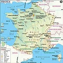 France Map - Laminated (36