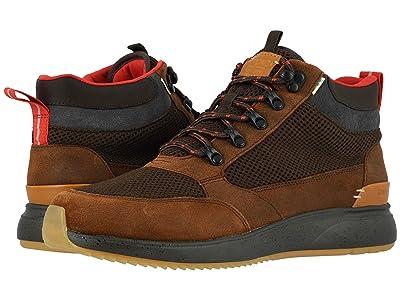 TOMS Skully (Waterproof Brown Distressed Leather/Mesh) Men