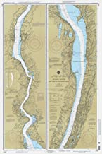 Map - Hudson River - New York To Wappinger Creek, 1996 Nautical NOAA Chart - New York, New Jersey (NY, NJ) - Vintage Wall Art - 44in x 66in