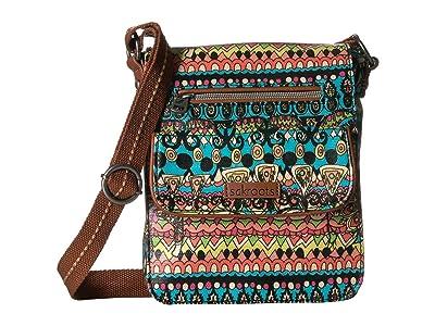 Sakroots Artist Circle Small Flap (Aqua One World) Cross Body Handbags