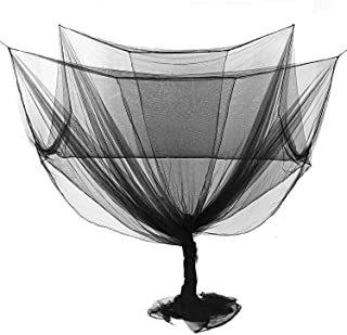 JIA-WALK 4 Corner Post Bed Canopy Mosquito Net Full Queen King Size Netting Bedding,Black