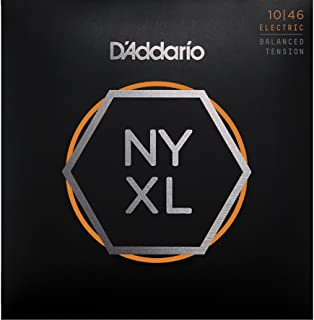 D'Addario NYXL1046BT Nickel Plated Electric Guitar Strings,Regular Light,Balanced Tension,10-46 – High Carbon Steel Alloy for Unprecedented Strength – Ideal Combination of Playability and Electric Tone