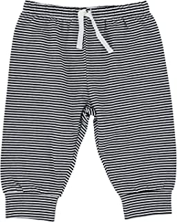 Stephan Baby Black & White Collection, Sweat Pants-Style Diaper Cover, Stripes, Fits 6-12 Months