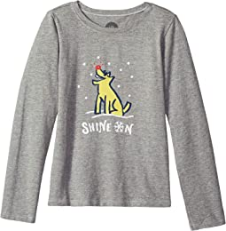Shine On Rocket Crusher T-Shirt Long Sleeve (Little Kids/Big Kids)