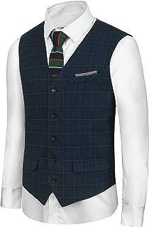Hanayome Men's British Style Leisure Business Suit Dress Vest Waistcoat VS08