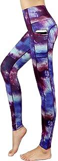 New Minc Women's Galaxy Leggings Printed -Tummy Control- High Waist Yoga Capri Pants with Pockets YH01/YH02/YH03