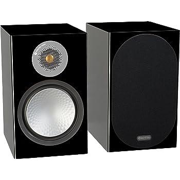 Monitor Audio Silver 100 Bookshelf Speakers - Pair (Gloss Black)