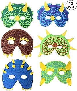 Dinosaurier Partyzubeh/ör WWmily Dinosaurier-Masken f/ür Kinder Dinosaurier-Spielzeug f/ür Jungen und M/ädchen Partyzubeh/ör