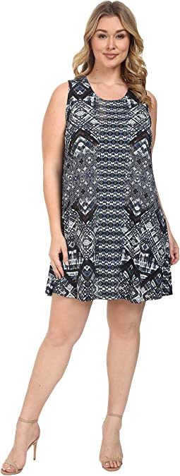 Plus Size Sleeveless Maggie Trapeze Dress