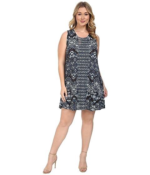 Karen Kane Plus Plus Size Sleeveless Maggie Trapeze Dress At 6pm