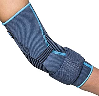Prim AQTIVO Sport Elbow Brace, Medical Grade Elbow Brace Compression Sleeve for Tendonitis, Cubital Tunnel Syndrome, Bursitis, Ulnar Nerve Entrapment, Tennis Elbow; Sport or Injury Recovery - Small