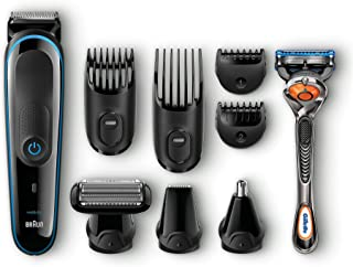Braun 9-in-1 All-in-one Trimmer MGK3080, Beard Trimmer and Hair Clipper, Body Groomer