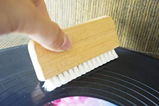 Natural Goat's Hair for Vinyl Record Audio Record Cleaner Brush / Turntable Vinyl Record LP Cleaning - Wood handle - aturally Vinyl Cleaning Carbon Fiber anti-static bristles Brush Cleaner(no Record )