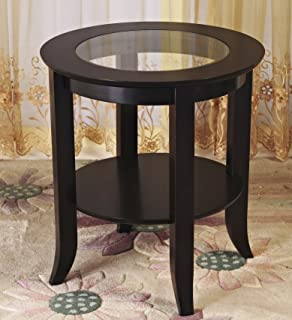 5efcd6894cb6 Amazon.com  Round - Glass   End Tables   Tables  Home   Kitchen