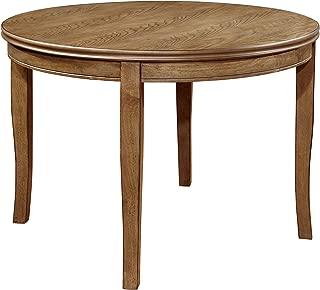 Furniture of America Dekina Transitional Round Dining Table, Natural Finish