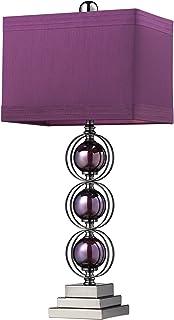 Dimond Lighting D2232 Alva Table Lamp, 27  x 12  x 27 , Purple and Black Nickel Finish
