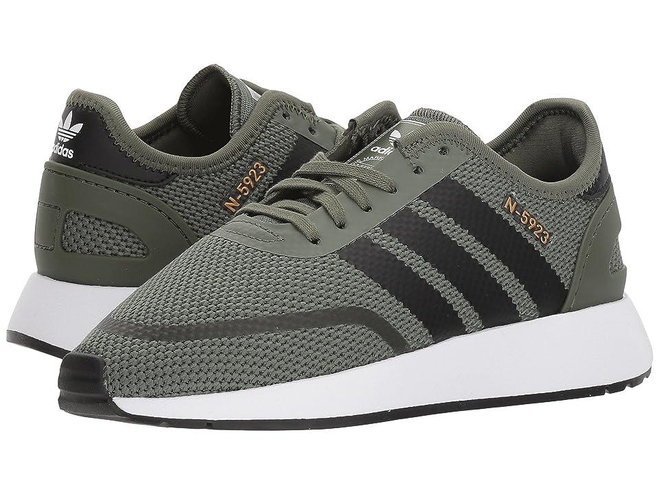 adidas Originals Kids N-5923 CLS J (Big Kid) (Base Green/Black/White) Boys Shoes