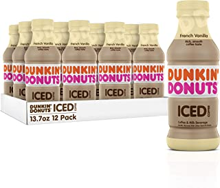 Dunkin Donuts Iced Coffee, French Vanilla, 13.7 Fluid Ounce (Pack of 12)