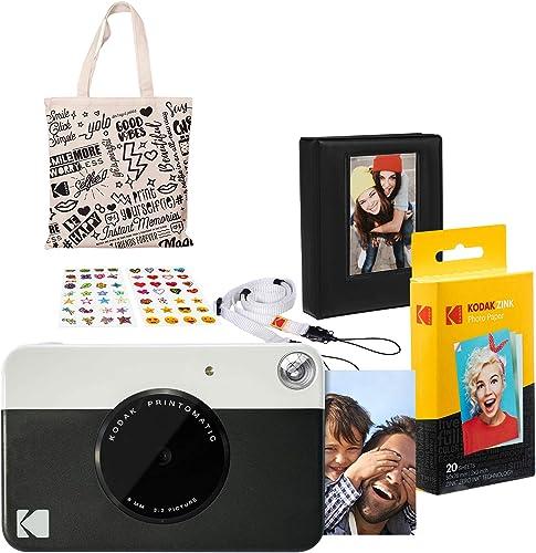 discount Kodak outlet online sale 2021 PRINTOMATIC Instant Print Camera (Black) Gift Bundle online