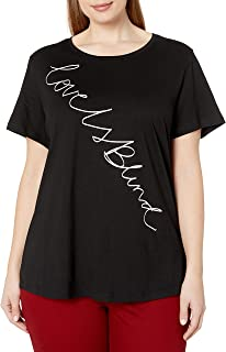 City Chic Women's Apparel Women's Plus Size Top with Contrast Writing