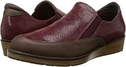 Brown Shimmer Nubuck/Reptile Burgundy Leather