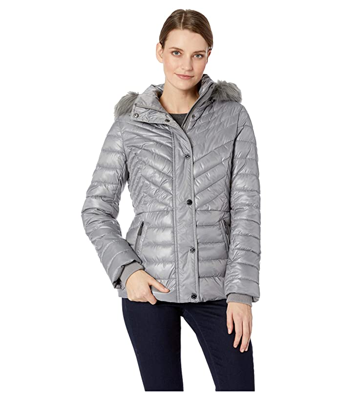 9b2397cac Kenneth Cole New York Faux Fur Trimmed Short Puffer | 6pm