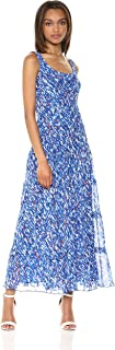 Nine West Women's Multi Tier Chiffon Maxi Dress