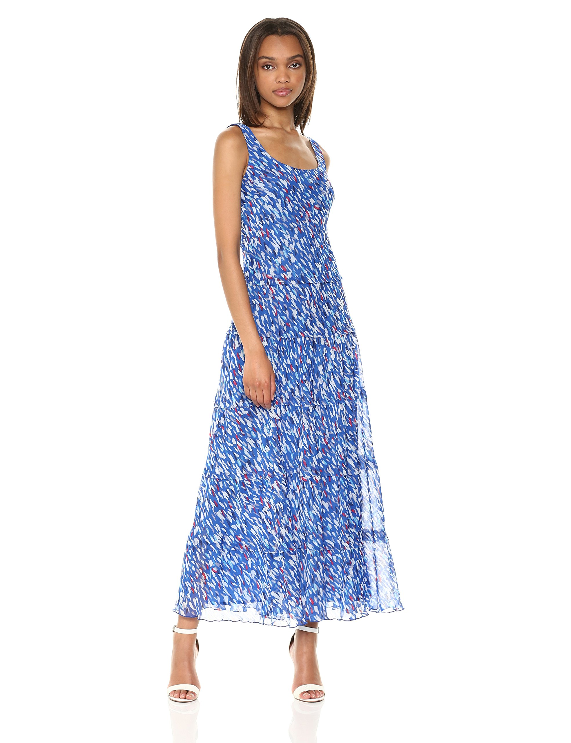 Available at Amazon: NINE WEST Women's Multi Tier Chiffon Maxi Dress