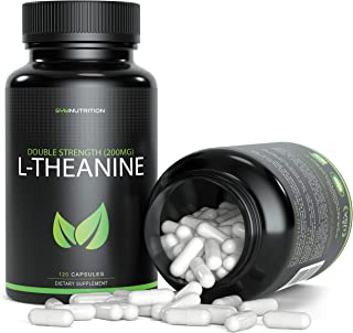 L-Theanine 200mg - 120 Count (V-Capsules) / 120 Servings; Taken to Promote Relaxation and Improve Sleep Quality | Vegan, Non-GMO & Gluten Free