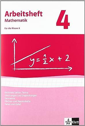 Rationale Zahlen Tere GleichungenUngleichungen FlächenRauinhalt Ausgabe ab 2009 Arbeitsheft it Lösungsheft Klasse 8 Arbeitsheft atheatik by J. Peter Böhmer