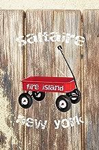 Saltaire Fire Island New York: 6x9 lined journal: fire island red wagon summer diary travel journal guest book host hostess gift