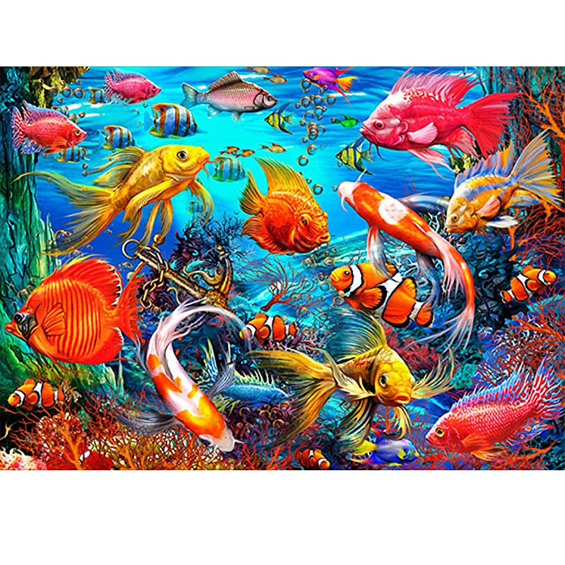 Diamond Painting Kit for Adults,5D Diamond Painting Full Drill Underwater World Diamond Embroidery Pictures Arts Craft Home Wall Decor 14x18 inch(35x45cm)