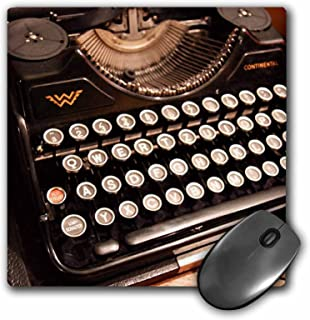 3dRose LLC 8 x 8 x 0.25 Inches Mouse Pad, Continental Typewriter (mp_29072_1)