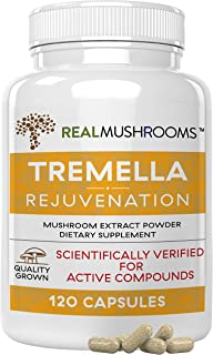 Tremella Mushroom Extract by Real Mushrooms, Mushroom Supplements for Immunity Support, Brain Support, and Healthy Skin, V...