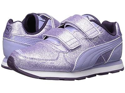 Puma Kids Vista Glitz Velcro (Little Kid) (Sweet Lavender/Indigo) Girls Shoes