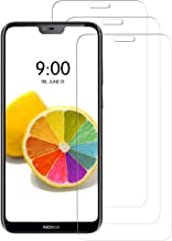 [3 Pack] INGLE Compatible with Nokia 6.1 Plus/Nokia X6 2018 Screen Protector,9H Hardness Bubble Free Tempered Glass with Lifetime Replacement Warranty 【 Not Fit for Nokia 6.1 】