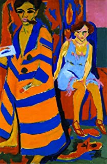 Odsan Gallery Self-Portrait With Model - By Ernst Ludwig Kirchner - Canvas Prints 20