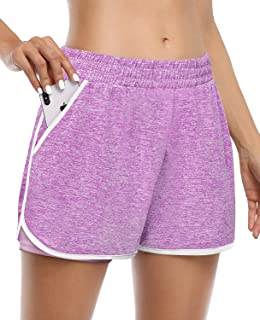 Viracy Womens Workout Shorts Yoga Running Short Loungewear with Pockets