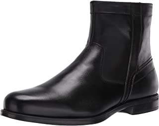 Florsheim mens Medfield Plain Toe Zip Fashion Boot, Black, 9.5 Wide US