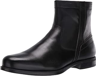 Florsheim Men's Medfield Plain Toe Zip Boot Fashion, Black,