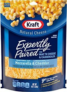 Kraft Expertly Paired Shredded Cheese for Mac 'N Cheese, Mozzarella & Cheddar (8 oz Bag)