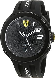 Ferrari Mens Quartz Watch, Analog Display and Silicone Strap 830222