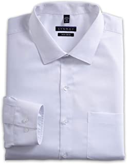 Synrgy by DXL Big and Tall Sateen Dress Shirt, White 24 37/38