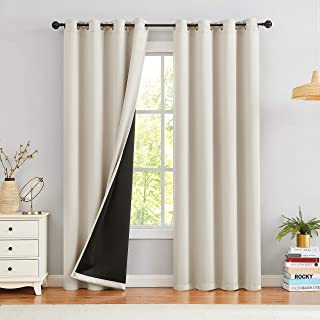 Blackout Window Curtain Panels for Bedroom 95% Room Darkening Noise Reducing Thermal Insulated, Grommet Top Solid Blackout...