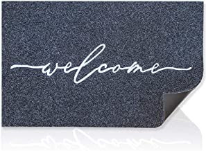 Welcome Mat Outdoor with Durable Non Slip Rubber Backing Ultra Absorb Mud Easy Clean Entry Door mats for Indoor High Traff...