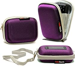Navitech Purple Water Resistant Hard Digital Camera Case Cover Compatible With TheSamsung WB30F / ST150F / DV150F / ST200F / DV151F / ST72 / ST77 / DV300F / WB750 / WB700 / WB210 / T96 / ST95 / ST93 / ST700 / ST66 / ST65 / ST6500 / ST30 / PL210 / PL20 / PL170 / PL120 / MV800 / ES90 / ES80 / MV900F / SH100
