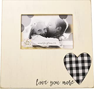 Glory Haus Love You More You More Plaid Heart Frame, Multicolor