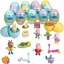 Peppa Pig Easter Egg Mega-Value Pack - 15 Different Surprise Mystery Eggs Each with Themed Toy Accessory or Figure Character Inside - Great Gift & Easter Basket Stuffer for Kids and Egg Hunts